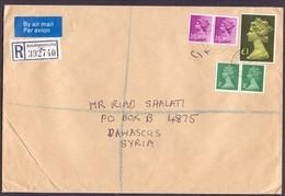 Great Britain Registered Mail Cover Sent To SYRIA - Territoire Britannique De L'Océan Indien