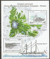 TAAF 2012  Mi.No. 787 - 788 (Block 31) Fr. Antarktis MONACO Birds S\sh MNH** - Pinguïns & Vetganzen