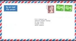 Great Britain Registered Mail Cover Sent To SAUDI- Riyadh City - British Indian Ocean Territory (BIOT)