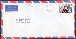 Great Britain Registered Mail Cover Sent To SAUDI- Hail City - British Indian Ocean Territory (BIOT)