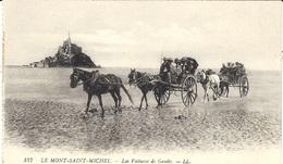 157- LLE MONT SAINT MICHEL - Les Voitures De Genêts -ed. L L   -ATTELAGE - Le Mont Saint Michel