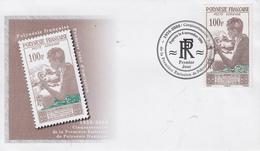 Enveloppe  FDC  1er  Jour  POLYNESIE   Cinquantenaire  De  La  1ére  Emission   2008 - FDC