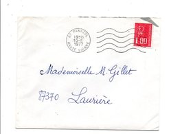 OBLITERATION MECANIQUE DE PANAZOL HAUTE VIENNE 1977 - Postmark Collection (Covers)