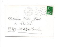 OBLITERATION MECANIQUE DE AMBAZAC HAUTE VIENNE 1977 - Marcofilia (sobres)