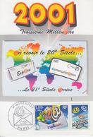 Carte  Maximum  1er Jour    FRANCE   Troisiéme  Millénaire   2000 - Maximumkarten