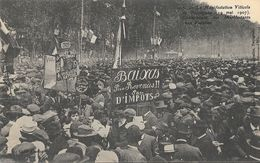 Manifestation Viticole, Perpignan Le 19 Mai 1907 - Manifestants Aux Platanes, Carte Non Circulée - Betogingen