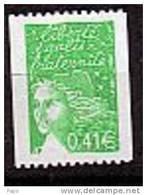 2002-N° 3458a** MARIANNE DU 14 JUILLET.ROULETTE.N°ROUGE - France