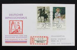 """FDC Bund, BRD, Mi.-Nr. 987-988, Ersttagsbrief """"Deutscher Impressionismus"""" - [7] Repubblica Federale"""