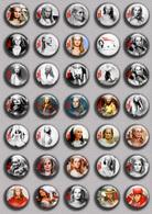 Ursula Andress  Movie Film Fan ART BADGE BUTTON PIN SET 2  (1inch/25mm Diameter) 35 DIFF - Kino