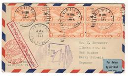 5459 - Catapulté Du BREMEN - 1c. 1918-1940 Covers