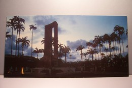 GUYANE   -  CAYENNE  -  Coucher De Soleil Place Des Palmistes-  Carte Grand Format - ( Pas De Reflet Sur L'original ) - Cayenne