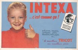 AC - B3361- Buvard  Tricots INTEXA (détails, état, ...= Scan) - Blotters