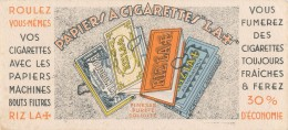 AC - B3361- Buvard  Papier à Cigarettes RIZLA (détails, état, ...= Scan) - C