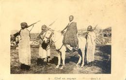 Ethiopie - Lot De 2 Cartes - Chef En Voyage - Chef De Province Entouré De Ses Soldats - Ethiopia