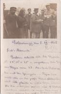 Alte Ansichtskarte Aus Golowincy (Golovintsy, Головинцы) Deutscher Feldwebel Mit Russischen Bauern - Belarus