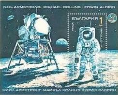 Neal Amsrong, Michael Collins, Edwin Aldrin - Bulgaria / Bulgarie 1990 -  Block MNH** - Stati Uniti