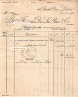 Document Du 04/06/1926 THOMAS DE LA RUE - London Londres - Verenigd-Koninkrijk