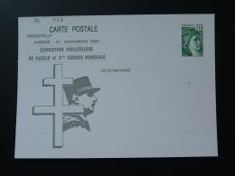 80 Somme Amiens Exposition De Gaulle (1.10F) Entier Postal Sabine De Gandon Stationery Card - De Gaulle (Generale)