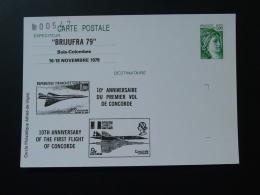 92 Hauts De Seine Bois Colombes 10 Ans Du Concorde 1979 Entier Postal Sabine De Gandon Stationery Card - Concorde