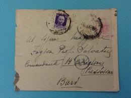 BARI BUSTA COMANDO ARTIGLIERIA VERIFICATO PER CENSURA - 1900-44 Vittorio Emanuele III