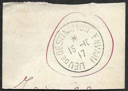 1917- Lieu De Destination Envahi - Marcophilie (Lettres)