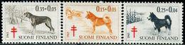 FC0094 Finland 1965 Dog Hound Silk Retriever 3V MNH - Finlandia