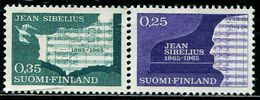 FC0095 Finland 1965 Composer Sibelius's Sheet Music 2V MNH - Finnland