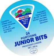 ETIQUETTE FROMAGE FONDU POUR TARTINES -   JUNIORS  BITS   -   24 Portions -  HTE SAVOIE - 74.010.061 - Fromage