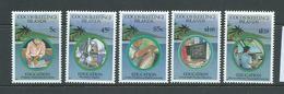 Cocos Keeling Island 1993 Education Set 5 MNH , 3 With Gum Bends - Cocos (Keeling) Islands
