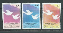 Cocos Keeling Island 1993 Festive Season Set 3 MNH - Cocos (Keeling) Islands