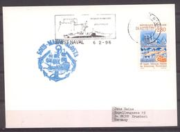 Sous-marin Agosta Du 06/02/96 Brest Naval Pour L'Allemagne - Postmark Collection (Covers)