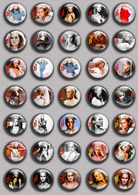 Ursula Andress  Movie Film Fan ART BADGE BUTTON PIN SET 3  (1inch/25mm Diameter) 35 DIFF - Kino