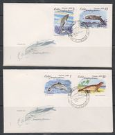 Cuba 1980 Marine Life, Whales, Dolphins 4v 2 FDC (39789) - FDC
