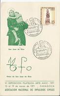 España. 1971. Tarjeta Conmemorativa De San Juan De Dios Con Su Firma - Maximumkarten