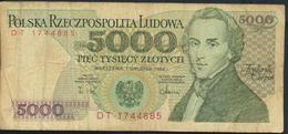 °°° POLAND POLSKA - 5000 ZLOTYCH 1988 °°° - Polonia