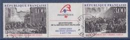 = Bicentenaire Révolution Philexfrance 89 Exposition Philatélique Mondiale Tableaux 2 Timbres + Vignette Oblitéré T2537A - France