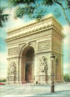 Cartolina Stereoscopica (3D, Visiorelief) Paris, L'Arc De Triomphe (France) - Cartoline Stereoscopiche