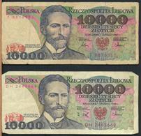°°° POLAND POLSKA - 10000 ZLOTYCH 1987 1988 °°° - Polonia