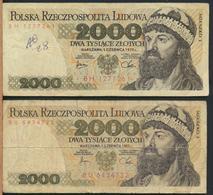 °°° POLAND POLSKA - 2000 ZLOTYCH 1979 1982 °°° - Polonia