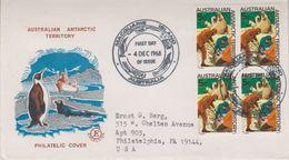 AAT 1968 Sea-Elefanten 1v Bl Of 4 FDC Ca Macquerie Island 4 Dec 1968 (39792) - FDC