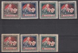 LETLAND - Michel - 1921 - Nr 51/54 Y + Z (Zonder Nr 54y) - MH* - Lettonie