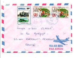 SENEGAL AFFRANCHISSEMENT COMPOSE SUR LETTRE AVION POUR LA FRANCE 1990 - Senegal (1960-...)