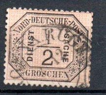 Conf De L'Allemagne Du Nord  / Service   / N 3 / 1/2 G Noir / Oblitéré - North German Conf.