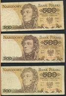 °°° POLAND POLSKA - 500 ZLOTYCH 1979/1982 °°° - Polonia