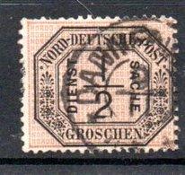 Conf De L'Allemagne Du Nord  / Service   / N 3 / 1/2 G Noir / Oblitéré - Conf. De L' All. Du Nord