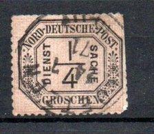 Conf De L'Allemagne Du Nord  / Service   / N 1 / 1/4 G Noir / Oblitéré / Côte 55€ - North German Conf.