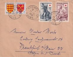FRANCE 1955 LETTRE DE AUDINCOURT - 1921-1960: Modern Period
