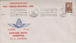 Argentina 1969 Commemoracion Vuelos Estafeta Antartida  Cover (39795) - Poolvluchten