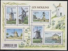 = Les Moulins De France N°F4485 Neuf Moulin à Vent Montbrun Lauragais, Cassel, 4485 4486 4487 4488 4489 4490 - Blocchi & Foglietti