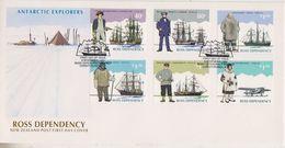 Ross Dependency 1995 Antarctic Explorers 6v  FDC ** Mnh (39799) - Ross Dependency (Nieuw-Zeeland)